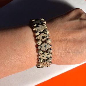 Jewelry - ◽️🔲Dalmatian Jasper Stone Bracelet🔲◽️